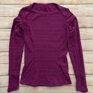Lululemon size 4 long sleeve soft striped shirt